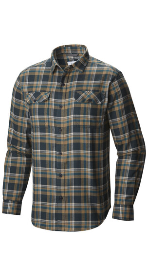 Columbia Flare Gun Flannel Long Sleeve Shirt Men Night Shadow Multi